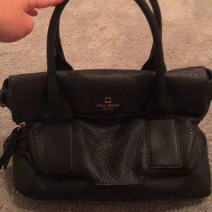 Kate spade black leather satchel